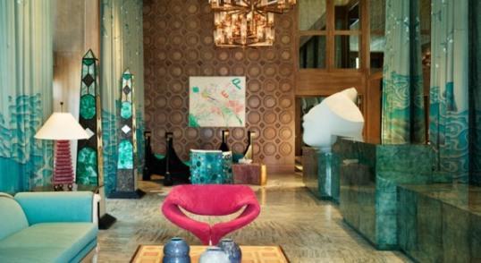 הלובי המרהיב ביופיו של מלון Viceory במיאמי (מתוך אתר מלונות Viceory)